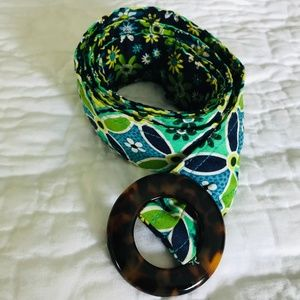 "Vera Bradley Retired ""Daisy Daisy"" Fabric Belt"